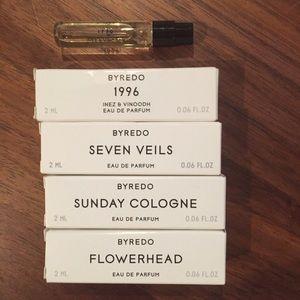 4 Byredo samples